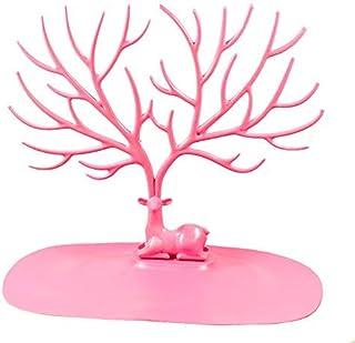 Joyero ciervo con forma de árbol Rosa - Organizador de joyas