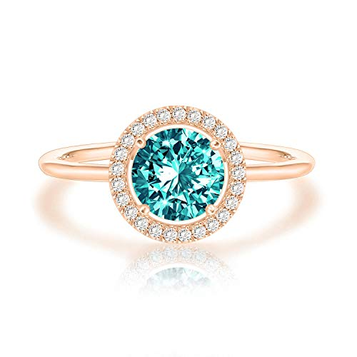 Swarovski Crystal 14K Rose Gold Plated Birthstone Rings | Rose Gold Rings for Women | Emerald Ring