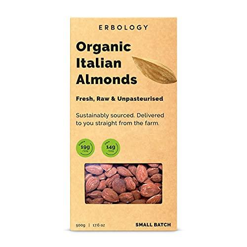 Amandes Bio 500g - Crues - Naturelles - Décortiquées - Entières - Produites en Petits Lots - Directement de la Ferme