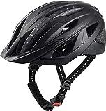 ALPINA Unisex - Erwachsene, HAGA LED Fahrradhelm, black matt, 55-59 cm