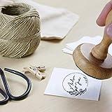 Sello Boda Caucho Personalizado, Sello de Madera con tampón de tinta, Sello Boda | Círculo Floral