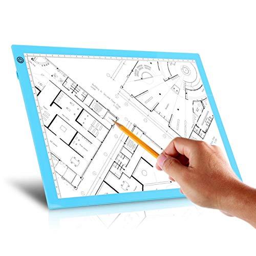 Tableta de dibujo LED de almohadilla de luz de almohadilla de luz de rastreo USB para bocetos de caligrafía