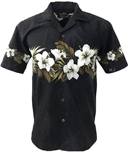 Favant Tropical Luau Beach Hibiscus Band Floral Print Men