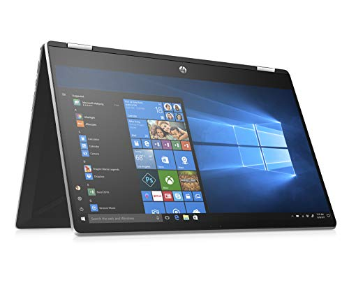 HP Pavilion x360 15-dq1001ng (15,6 Zoll / Full HD Touch) Convertible Notebook (Intel Core i5-10210U, 8GB DDR4 RAM, 16GB Intel Optane, 256GB SSD, Intel UHD Grafik, Windows 10 Home) silber