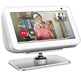 Echo Show 5 Stand for 1st & 2nd Gen, 2021 Metal Adjustable Stand Holder - Echo Show 5 Stand 360 Degree Swivel for Kitchen, Bedroom, Office (White)