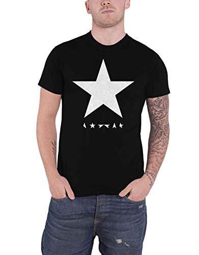 David Bowie T Shirt Blackstar Band Logo Album Cover Ufficiale Uomo nuovo nero