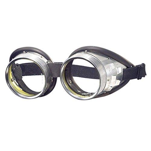 WELDINGER Schraubringbrille / Korbbrille mit klaren Gläsern VSG Sicherheitsglas splitterfrei