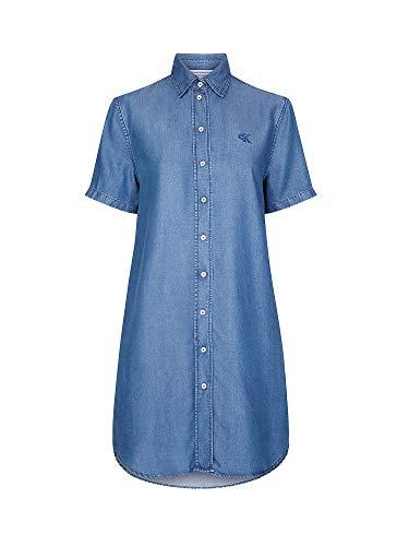 Calvin Klein Jeans J20J213626 Indigo Tencel Vestido Vestido Mujer