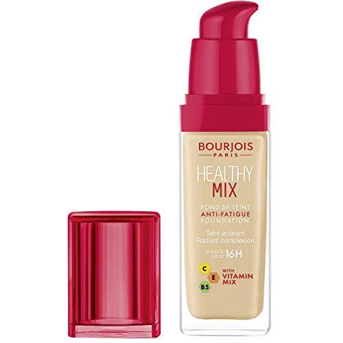 Bourjois Fondotinta Liquido Healthy Mix Formula Anti-Age Illuminante e Idratante a Lunga Durata con Vitamine e Acido Ialuronico, 52 Vanilla