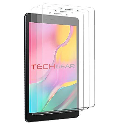 TECHGEAR [3 Stück] Galaxy Tab A8 2019 8.0 Zoll Schutzfolie (SM-T290 /SM-T295) - Ultra Klare Schutzfolie Kompatibel mit Samsung Galaxy Tab A 8.0 2019 mit Reinigungstuch + Applikationskarte