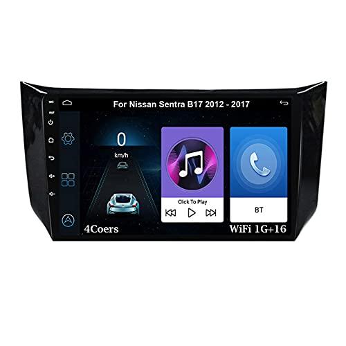 Autoradio Android Car Radio Stereo 9 Pulgadas Pantalla Táctil Para Nissan Sentra B17 2012-2017 Conecta Y Reproduce Cámara De Respaldo Estéreo De Coche Auto Dvd Player (Color : 4cores:wifi1g+16g)