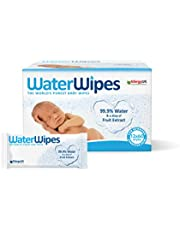 WaterWipes Baby Wipes, 99.9% Water, Unscented, Sensitive, Newborn Skin, 720 Wet Wipes (12 Packs of 60 Wipes)