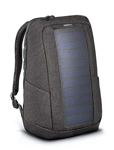 SunnyBAG Iconic Solar-Rucksack mit integriertem 7 Watt Solar-Panel | USB-Anschluss | Wireless-Charging | Laptop-Fach für 17-Zoll-Notebook | 20 Liter | Wasserabweisend | Graphite