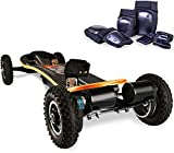 Off Road Electric Skateboard with Remote Control - 3300W Dual Motor - UL2272 Certified high Speed 25 MPH Motorized Mountain Y8 Longboard with bindings for Cruising | LG Battery (Black)