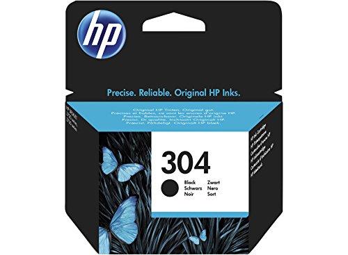 HP 304 Black Original Standard Capacity Tintenpatrone, Schwarz, 4 ml, für Drucker (Original, Tinte auf Pigmentbasis, Schwarz, HP, DeskJet 3720, DeskJet 3730, N9K06AE)