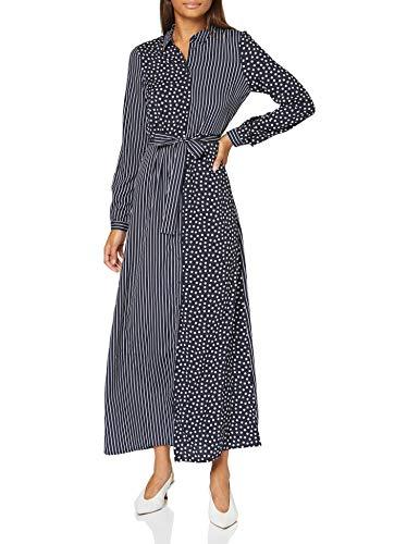 Vero Moda Damen VMLIVA L/S MAXI DRESS WVN CE Lässiges Kleid, Blau (Night sky), L