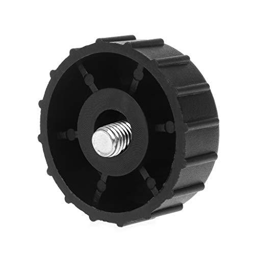YUZI, cabezal de corte dividido, cubierta negra de 8 mm, cabezal de corte de hilo de repuesto, retenedor de carrete de plástico, perilla de golpe, mano derecha/izquierda