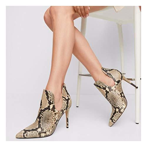 XIANWFBJ Damen High Heels, 4,7 Zoll Sexy Stiletto High Heels Mit Spitzen Zehen, Geeignet Für Bankett- / Arbeitskleidung All-Match-Einzelschuhe (Zwei Farben Erhältlich),Serpentine,35