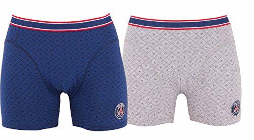 2 Boxershorts Paris Saint Germain, offizielle Kollektion, Kindergröße für Jungen. für 4-Jährige blau