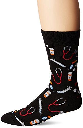 Socksmith Mens Meds Socks,Meds Black,Large