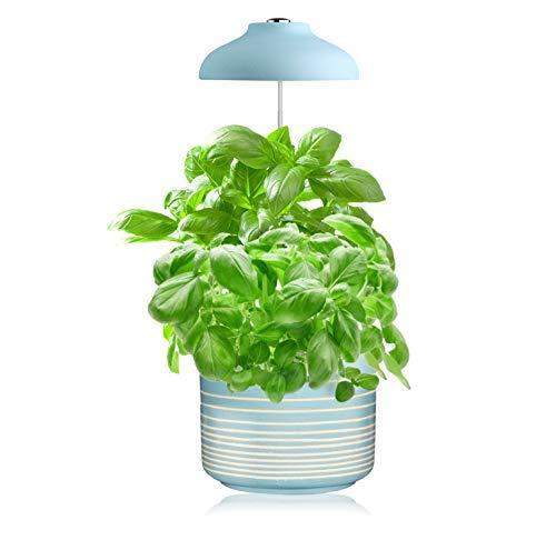 GrowLED LED Umbrella Plant Grow Light, Herb Garden, Height Adjustable, Automatic Timer, 5V Low Safe Voltage, Ideal for Plant Grow Novice Or Enthusiasts, Various Plants, DIY Decoration, Pure Blue
