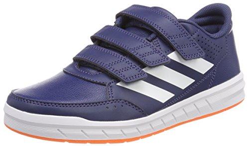 adidas AltaSport Cloudfoam, Sneakers Basses Mixte bébé, Multicolore (Noble Indigo S18/Ftwr White/Hi-res Orange S18), 21 EU