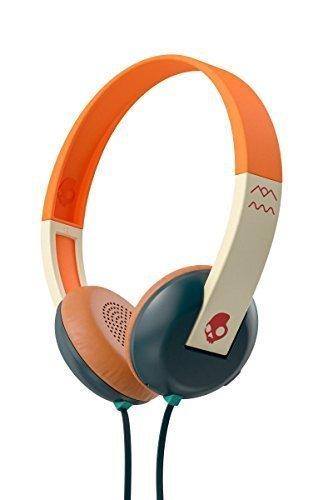 Skullcandy Uproar On-Ear Leicht Kopfhörer mit TapTech Playback Fernbedienung zur Musiksteuerung - Explorer/Grün/Rot