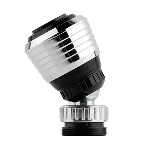 Katech 2 piezas de conector de grifo boquillas dispositivo de ahorro de agua 360 Degree giratoria grifo Bubbler grifo filtro boca prácticos accesorios de cocina