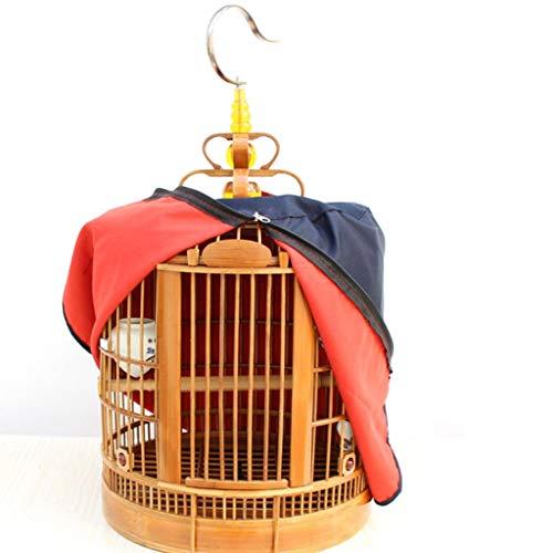 DXIUMZHP Vogelkafig Vogelkafig Deko Vogelkäfig Aus Handgefertigtem Chinesischen Stil Wohnzimmer Bambus Vogelkäfig Soor Papageienvogelkäfig Fliegender Käfig (Color : Brown-B, Size : 33 * 33 * 47 cm)