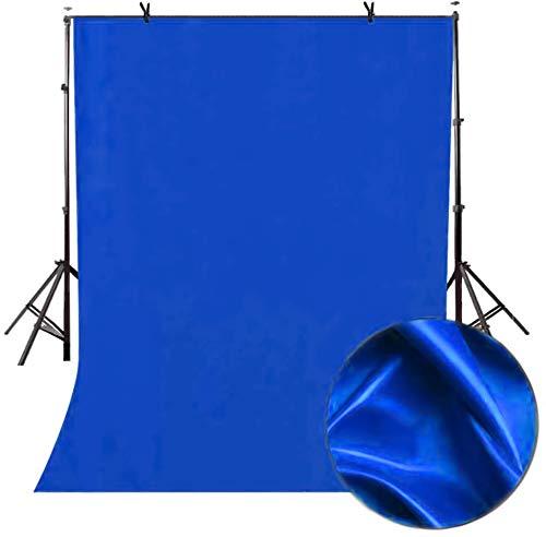 FayTun Fondali Fotografia, Sfondo Blu foto video, 1,5 x 2 m mussola di puro cotone sfondo pieghevole sfondo Blu, foto video live e TV (Sfondo SOLO!)