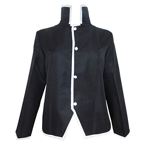 Xiao Wu Alphonse Elric Edward Elric Black Jacket Coat Clothes Cosplay Costume (Male M)
