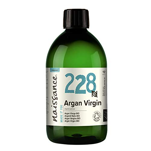 Naissance Organic Moroccan Argan Oil (no. 228) 500ml - Pure & Natural, Anti-Ageing, Antioxidant, Vegan, Hexane Free, No GMO