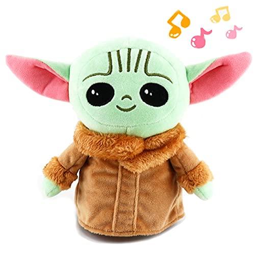 ENTER&RELIEVE Peluche Juguetes de peluche para bebé Yoda, 10-26 cm Mandalorian Super Elastic Doll Pillow, Baby Yoda Toys, Star Wars Baby Yoda Plush Toy (música 20cm)