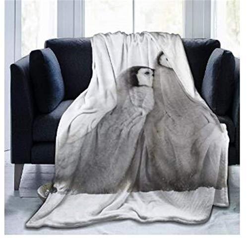 Fansu Kuscheldecke Flanell Decke, 3D Drucken Microfaser Flauschig Weich Warm Plüsch Wohndecke Fleece Tagesdecke Decke für Sofa & Bett (Pinguin,150x200cm)
