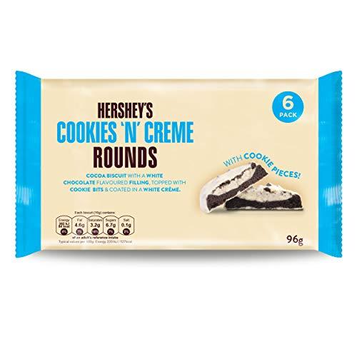 Hersheys Cookies n Creme Rounds Kekse, Kakaogebäck, Schokokekse, Cookies, 96 g, 1038000