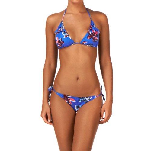 O'Neill Triangle Bikini Flower Women's Gr. 38, Blau - Blue AOP