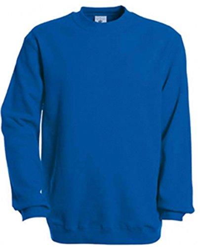 B&C Collection WU600 Mens Set In Sweatshirt - Royal Blue - Large