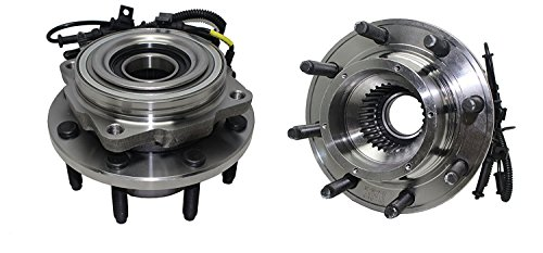 Detroit Axle 515081 (Both) Front Wheel Hub and Bearing Assembly 2005 2006 2007 2008 2009 2010 Ford F-250 F-350 F-450 F-550 SUPER DUTY SINGLE REAR WHEEL 4WD 8 Lug W/ABS