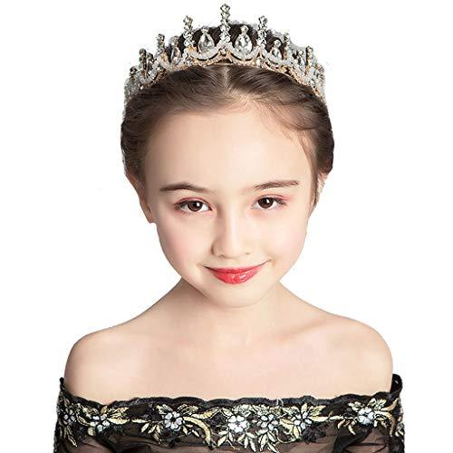 Bijoux Exquis Tiara Girls Couronne Accessoires de Cheveux de diadème Robe de soirée for Enfants Accessoires en Strass Élégant