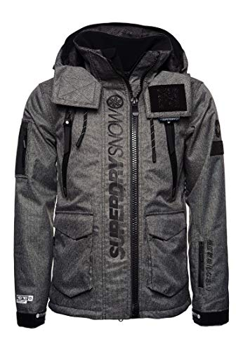Superdry Herren Ultimate Rescue Schneejacke, Schwarz Tex Rock, L