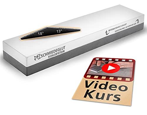Schleifstein Rasierschärfe Set incl. Video Messer Schärfkurs + Schärfhilfe, ersetzt Abziehstein 1000/3000/6000/8000, Zufriedenheitsgarantie, Deutsche Entwicklung