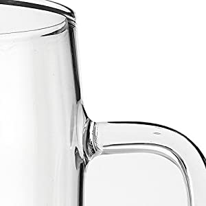 60 Ounces Glass Pitcher with Lid, Hot/Cold Water Jug, Juice and Iced Tea Beverage Carafe |