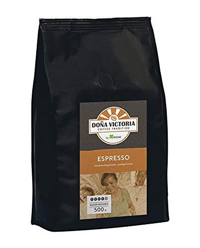 Doña Victoria 500g Kaffeebohnen - Espresso, Stärke 4 - Ideal für Kaffee Vollautomat und Siebträger