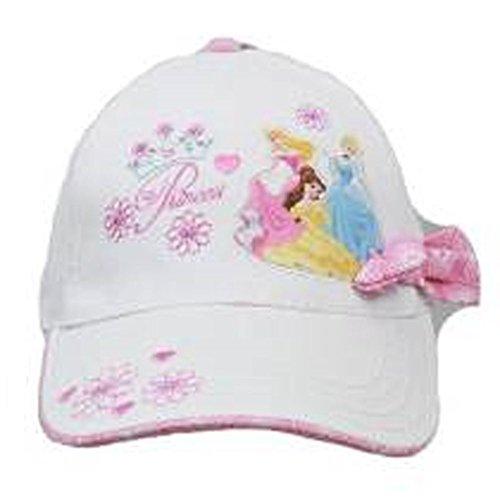 Disney Baseball Cap Princess- Rosa Schleife–Weiß (Youth/Kinder) New Hat ps418