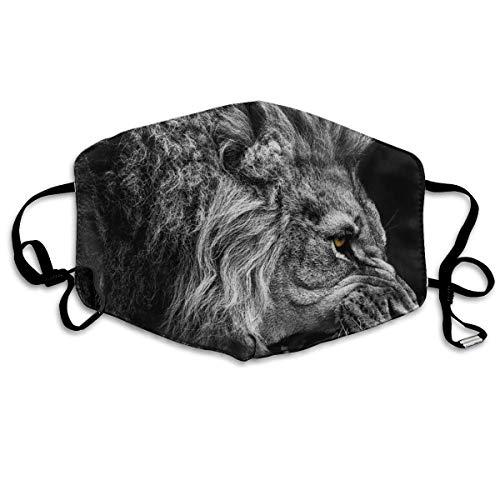 Jongens meisjes anti-stof oorloop half gezicht gezichtsafdekking Camping winddichte polyester afdekking Angry Lion King