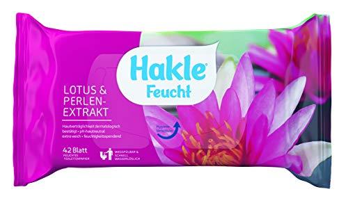 Hakle feuchtes Toilettenpapier Lotus und Perlenextrakt, 42 Tücher