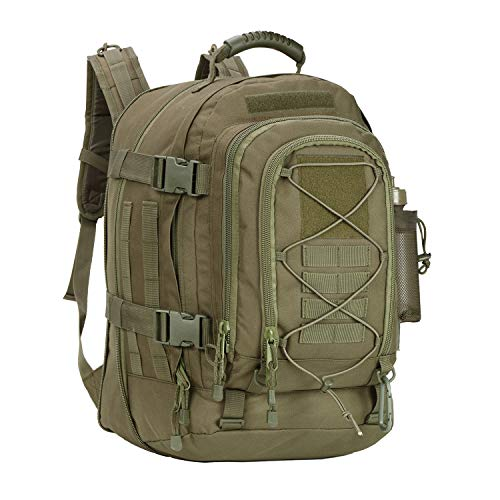 Military Expandable Travel Backpack Tactical Waterproof Work Backpack for Men(GREEN)