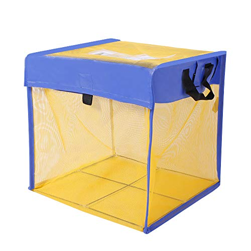 ゴミネット ボックス 蓋あり からす除け ゴミ荒らし防止 カラスや野良猫からゴミを守る 高強度ネットでくちばしを通さない 軽量折りたたみ式で簡単組立 水洗い可能 折りたたみ式 ゴミ収集ボックス (約)60×60×60cm216L カラスよけ ゴミネット ゴ