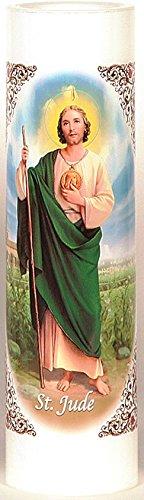 St. Jude   San Judas Tadeo   LED Flameless Prayer Candle with Automatic Timer   English & Spanish   7-Day Novena Candlelight Vigils   Catholic Religious Gifts