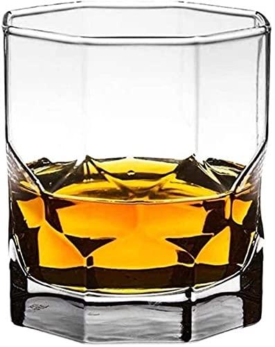 Casual Cerveza Copa De Vidrio Transparente Espesano Cocteles Vino Rojo Whisky Scotch Bourbon Agua Fría Jugo Leche Bar MUMUJIN (Color : A)